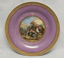 Antique Prattware Plate I See You My Boy Painted Scene