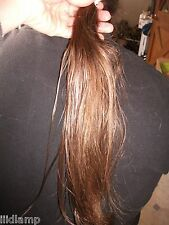 """14.5 16"""" AUTHENTIC 100% REAL HEALTHY HUMAN HAIR HAIRCUT VIRGIN PONY TAIL AWESOME"""