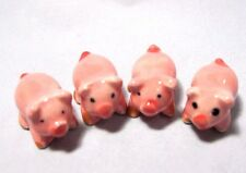 4 PCS CERAMIC PIG FARM DOLLHOUSE ART MINIATURE FIGURINE COLLECTIBLE GIFT CUTE#02