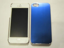 Blue iPhone 5 5s Aluminum Metal Full Back Protective Case & Chrome Sides