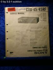 Sony Service Manual CDX 45 / 45RF CD Changer (#3487)