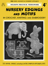 Weldon's 4D #40 c.1930 Crochet & Knitting Patterns to Decorate Infant's Nursery