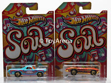 Hot Wheels Jukebox Soul '68 El Camino & '65 Corvette Wal-Mart Exclusive 2013 Lot