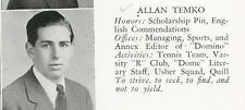 ALLAN TEMKO High School Yearbook 1941 Pulitzer Prize