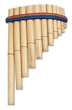 638 Decorative Wood Wind Instruments Beige Andean Pan Pipe Flute Peru Fair Trade