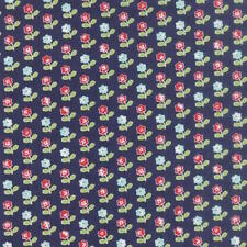 Moda Bonnie & Camille Vintage Picnic Floral Rosie Fabric in Navy 55121-16
