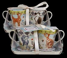 PORTMEIRION ARTHUR GOODFELLOW MUG AND TRAY SET 2 MUGS AND TRAY