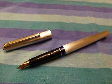 "Pelikan P478 ""silver star"" NIB M fountain pen * brushed stainless steel *   #026"