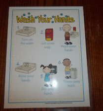 1 Laminated Hand Washing Poster.  Daycare Health supplies and accessories.  New.