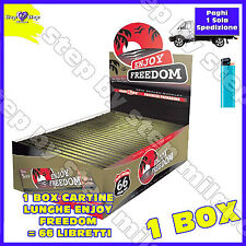 Cartine ENJOY FREEDOM LUNGHE Slim 66 pz King Size 1 box Cartina Lunga