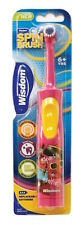Wisdom Spinbrush Kids Battery Toothbrush Boys And Girls 6+ years powerbrush x1