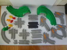 GEO TRAX GEOTRAX TRAIN SET LOT OF 27 GREY AND OTHER TRACK PIECES FISHER PRICE