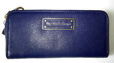 MARC BY MARC JACOBS TOO HOTTO HANDLE ZIP DEEP ULTRAVIOLET LEATHER WALLET