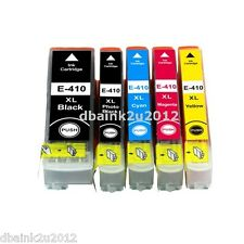 5 Pk Non-OEM T410XL Ink Cartridge for Epson XP-530 XP-630 XP-830 XP-840 Printers