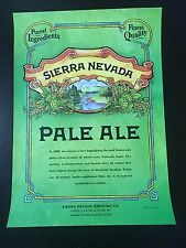 Sierra Nevada Pale Ale Beer Poster From The Brewery