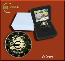 2 euros € conmemorativa Países Bajos 2012, PP, 10 años del euro