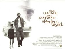 A Perfect World movie poster - Kevin Costner, Clint Eastwood