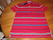 Men's Tommy Hilfiger Polo shirt stripe knit logo 7825560 Firenze Fuchsia 674 M