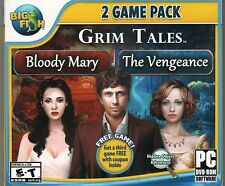 Grim Tales THE VENGEANCE + BLOODY MARY Hidden Object PC Game NEW + Bonus