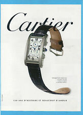 BELLEU997-PUBBLICITA'/ADVERTISING-1997- CARTIER TANK AMERICAINE