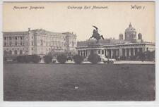 AK Wien I, Äusserer Burgplatz, Erzh. Karl Monument 1907