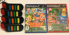 PS2 BUZZERS + 2 KIDS GAMES BUNDLE - JUNGLE PARTY - MONSTER RUMBLE. PLAYSTATION 2