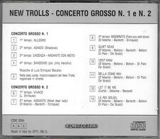 """NEW TROLLS - RARO CD 1 STAMPA FONIT CETRA """" CONCERTO GROSSO N.1 e N.2 """""""