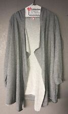 Worn Once Juicy Couture Gray Drape Front Hooded Cardigan with Sparkles Size XL