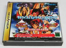 Samurai Spirits Best Collection Shodown 3 & 4 III IV Sega Saturn Japan * VGC *