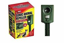 SONIC ANIMAL REPELLER CAT FOX DOG roditore Sensore di Movimento Giardino Animale scarer NUOVO