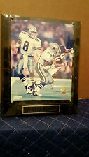 Troy Aikman Emmitt Smith Rare 3 Time Super Bowl Champions Photo File Plaque!