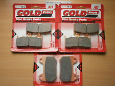 FULL SET SINTERED BRAKE PADS (3x Sets) For BMW K1200 LT (2005-2006) K1200LT