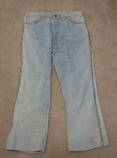 VINTAGE LEVIS #2 Stamped Studded 42 Talon Zip Single 3% Shrink 646 Jeans 34
