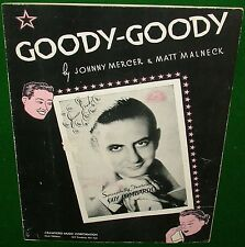 1936 Sheet Music: GOODY-GOODY, GUY LOMBARDO Cover Johnny Mercer, Gd Cond No Tape