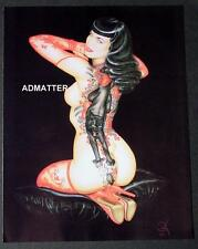 BETTIE PAGE PRINT SEXY TOPLESS NUDE BLACK PANTHER PHOTO TATTOO! ART BY OLIVIA