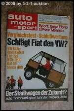 AMS Auto Motor Sport 12/70 Daf 55 Fiat 128 NSU 1200 Opel Kadett