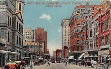 1914 Stores Main St. looking West from St. Paul St. Dallas TX post card