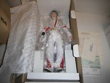 "19"" Elvis Presley Doll W/Stand & Box Aloha From Hawaii By Danbury Mint 1987 New"