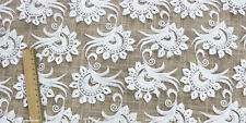 1yard *4ft white flower embroidery wedding dress lace fabric net  lace fabric