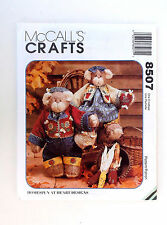 "Honey Bee Mine Bears McCall's Crafts Pattern#8507-14"" Bears-20 Pieces"