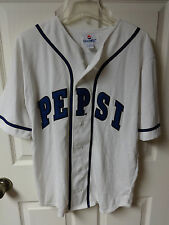 Vintage Pepsi Gen Next Buttoned Front Sewn Lettering Baseball Jersey Adult M XS