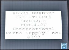 Allen-Bradley PanelView 1000 Cat. 2711-T10C15 Series C FRN:4.20 Tested No Cover