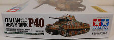 "Tamiya 89792    Italian Heavy Tank "" P 40 ""  Limited Edition      1:35"