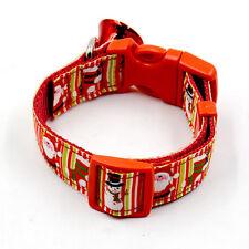 Christmas Pet Dog Cat Collar Adjustable Xmas Design Collars with Small Bell Set