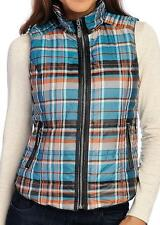 NEW - OSO Casuals® Printed Woven Sleeveless Two-Pocket Zip Front Vest - Sz. M