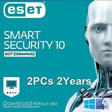 ESET Smart Security 10 / 2017 / 2 Users 2 Years Download Edition for Win & Mac