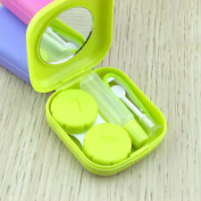 Mini Contact Lens Case Travel Kit Pocket Size Storage Holder Soaking Container