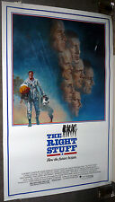 THE RIGHT STUFF Original 1983 ROLLED One Sheet movie poster NASA ASTRONAUTS