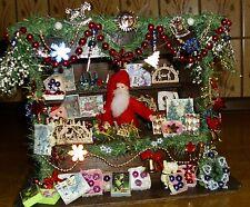 Weihnachtsmarktstand Hütte Bude neu Beleuchtung viel Zubehör 1:12 selten rar
