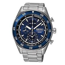 SEIKO MEN'S 45MM STEEL BRACELET & CASE QUARTZ BLUE DIAL WATCH SNDG55P1